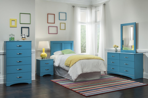 Lily Turquoise 6-PC Bedroom Set - CB Furniture