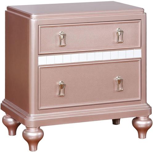 Aubriana Rose Gold Nightstand - CB Furniture