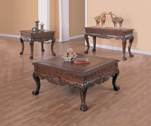 Elegance Dark Brown 3-PC Occasional Set
