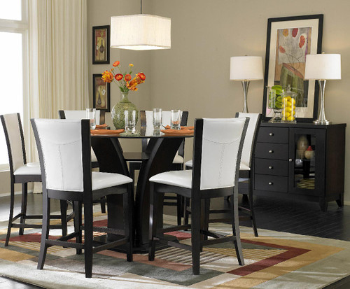 Jayden 7-PC Expresso Counter-Height Set Round Table