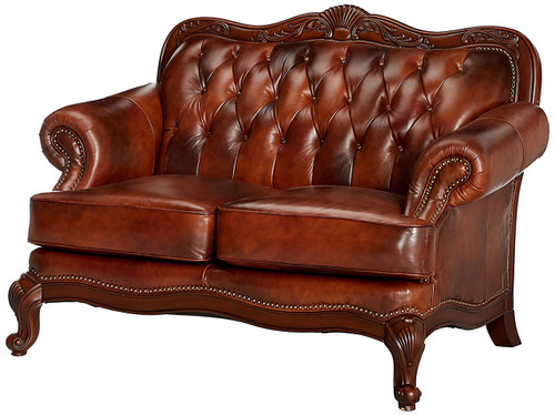 Gordon Top Grain Leather Loveseat