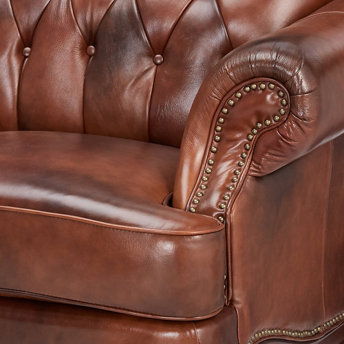 Gordon Top Grain Leather Arm Chair