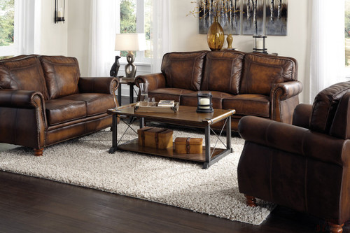 Payton Top Grain Leather Sofa And Loveseat