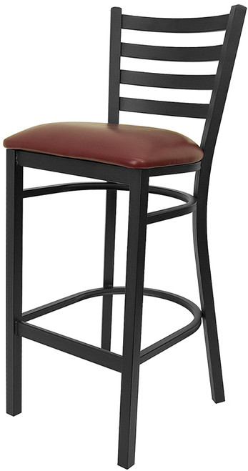 Frisco Burgandy Bar Stool