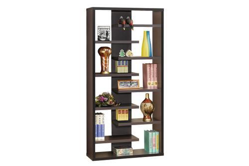 Lachlan Cappuccino Bookcase