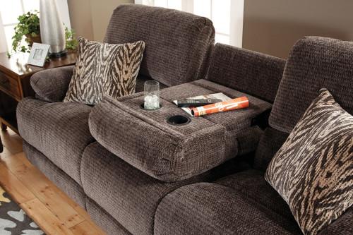 Novena Hidden Storage Reclining Sofa