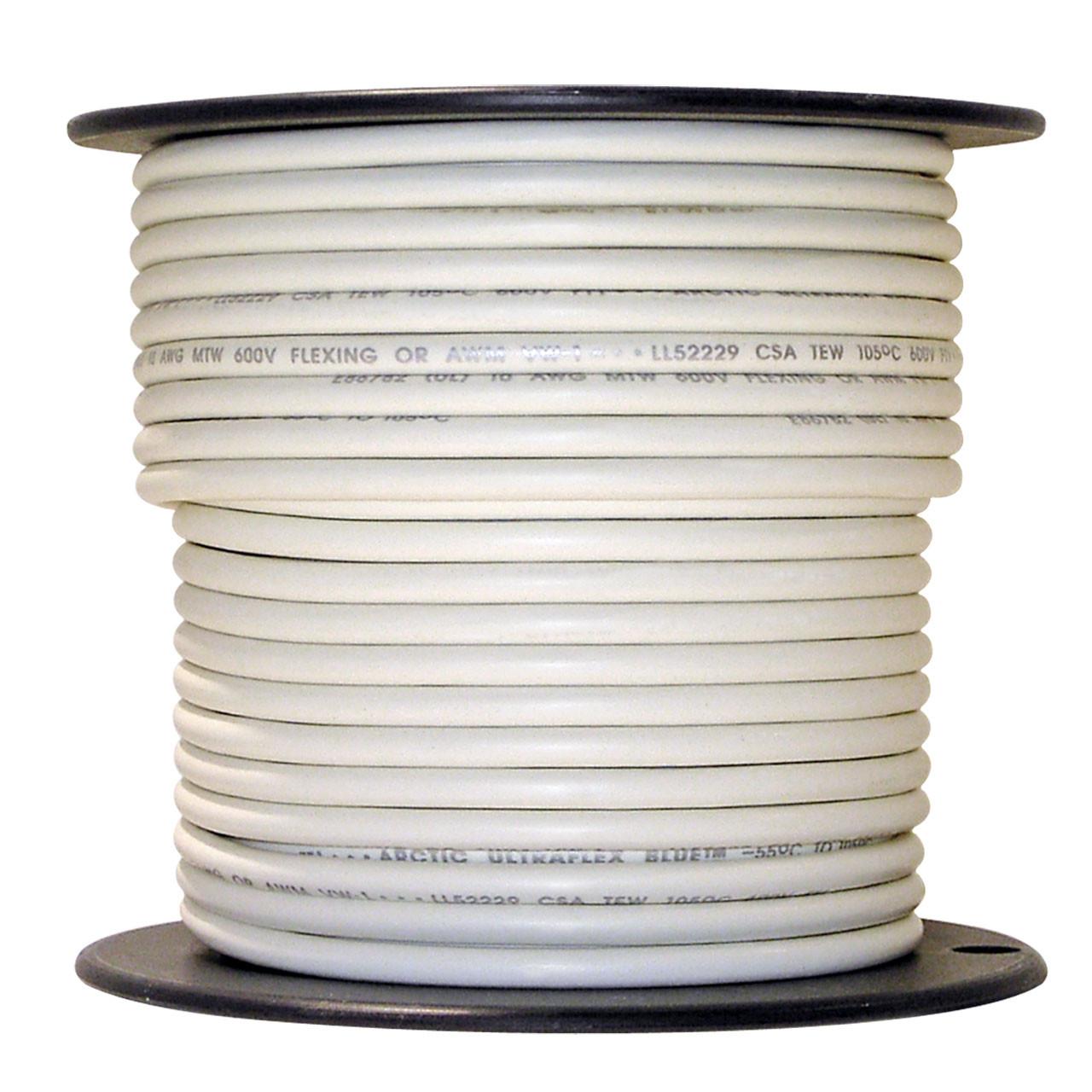 ARCTIC ULTRAFLEX 10GA WHT 100 FOOT ROLL - Polar Wire Products
