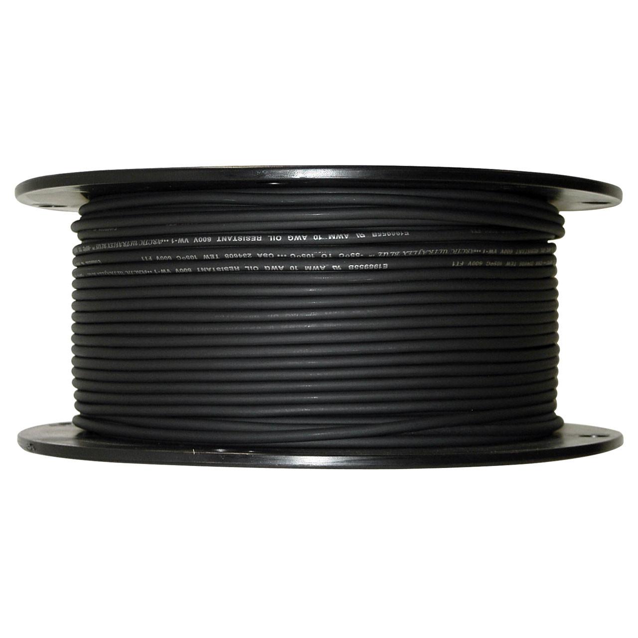 ARCTIC ULTRAFLEX 10GA BLK 500 FOOT ROLL - Polar Wire Products