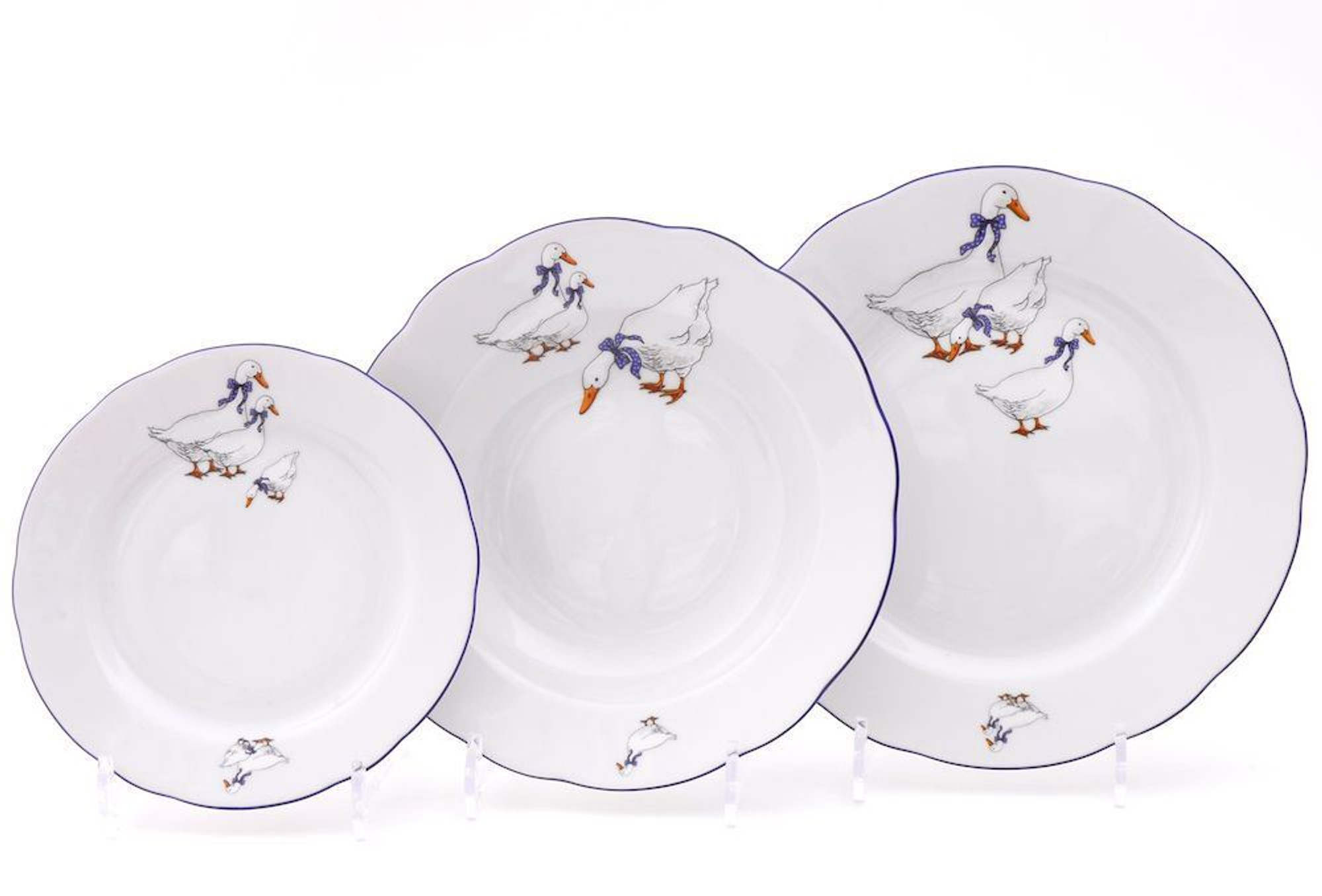 ... Geese Diner plate 9.6 in Czech porcelain ...  sc 1 th 185 & Diner plate 9.6 in Czech porcelain Geese - veralis.me
