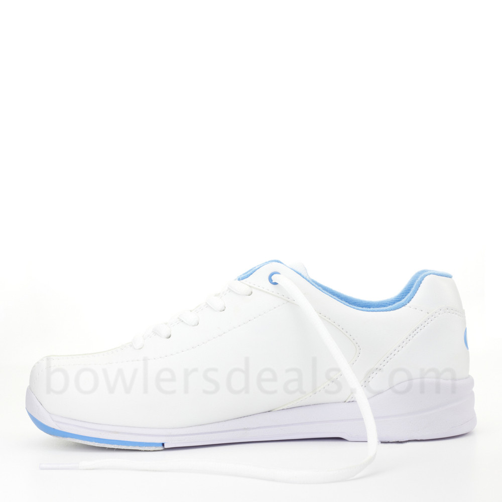 Dexter Raquel IV Jr Bowling Shoes White Blue Girls side view alternate