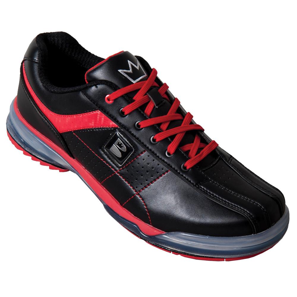 Brunswick TPU X Mens Bowling Shoes Black Red Right Hand angle view