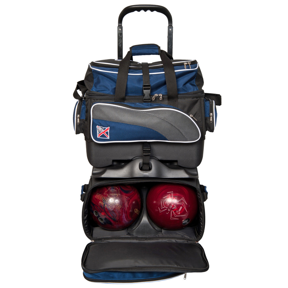 KR Apex 4 Ball Roller Bowling Bag Navy