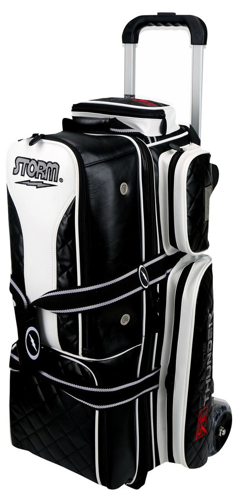 Storm Rolling Thunder 3-Ball Roller Bowling Bag Black Signature