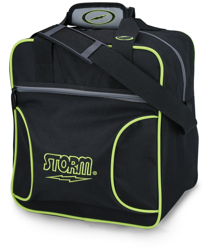 Storm Solo 1 Ball Tote Bowling Bag Black Lime