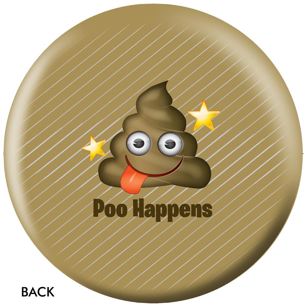 Emoji Poo Happens Back View