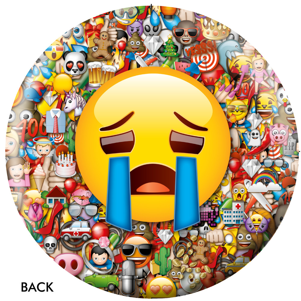 Emoji Laugh Cry Back View