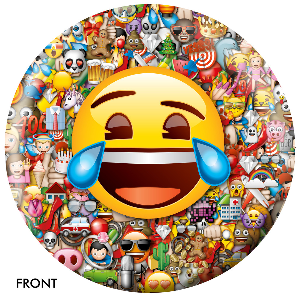 Emoji Laugh Cry Front View