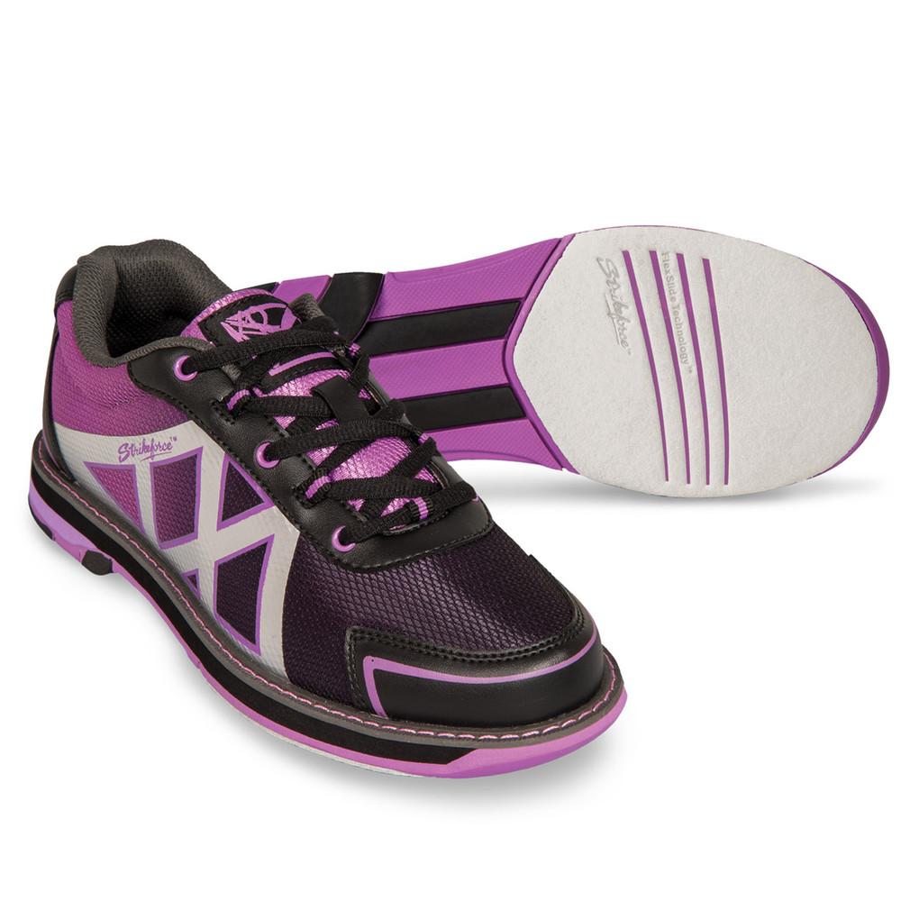 KR Strikeforce Kross Women's Bowling Shoes Black Purple