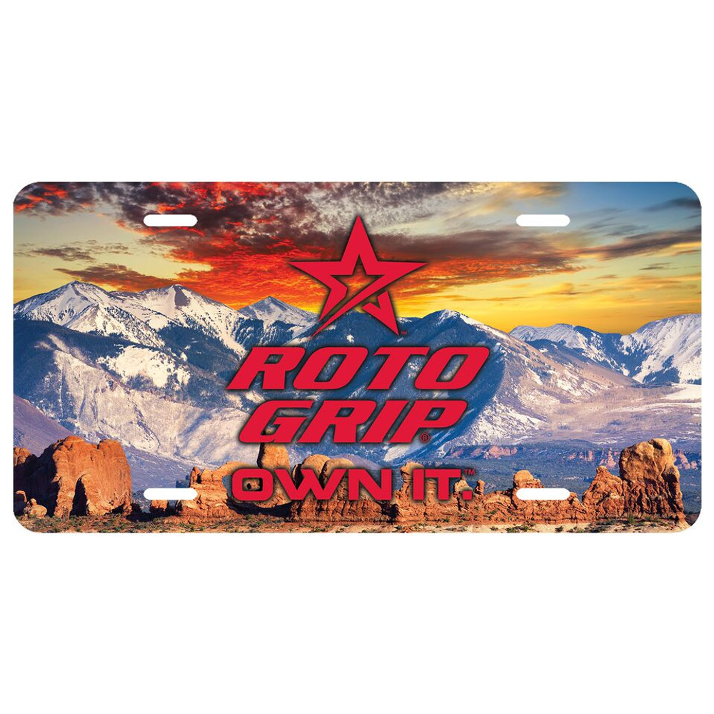 Roto Grip Car License Plate