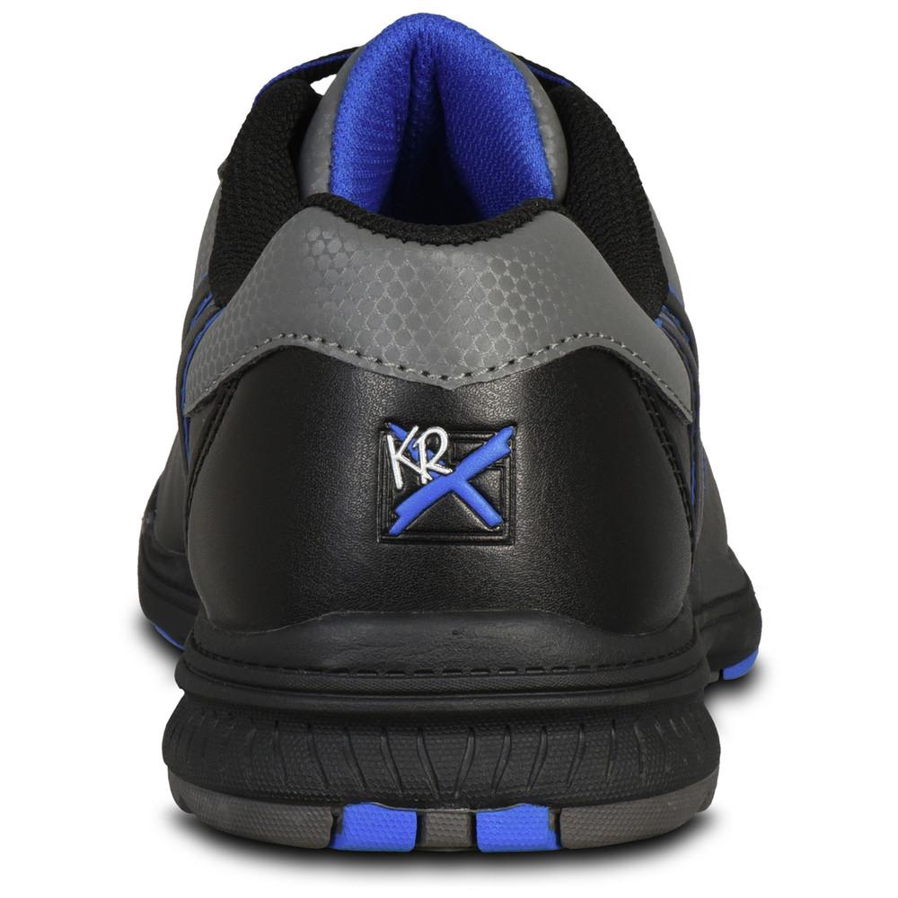 KR Strikeforce Raptor Mens Right Hand Bowling Shoes Black Royal Wide