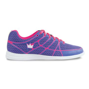 Brunswick Aura Women's Bowling Shoes Purple Pink side view