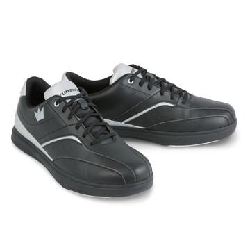 Brunswick Vapor Men's Bowling Shoes Black Silver