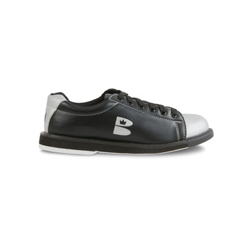 Brunswick TZone Youth Bowling Shoes Black Silver side view
