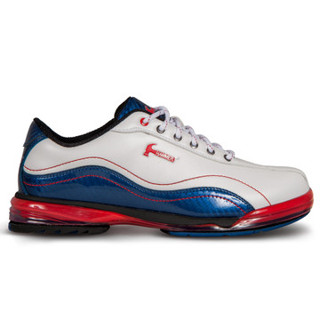 Hammer Force Mens Performance Bowling Shoes LE Patriot - White/Navy/Red Right Hand