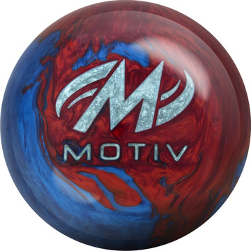 Motiv Freestyle Rush Bowling Ball Blue Red