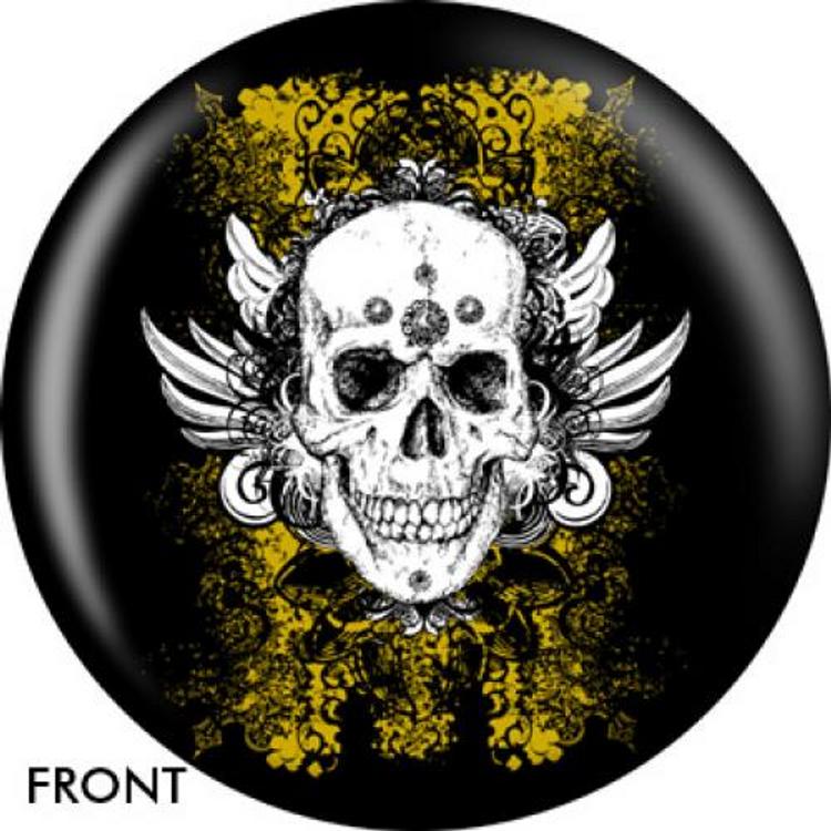 OTB Grunge Skull Bowling ball
