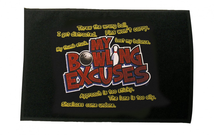 Master Bowling Excuses Bowling Towel