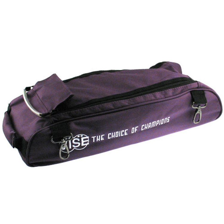 Vise 3 Ball Clear Top Roller Shoe Bag Purple