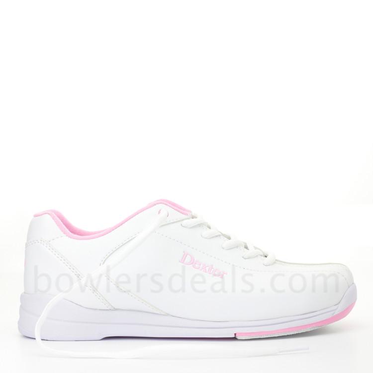 Dexter Raquel IV Womens Bowling Shoes White Pink side