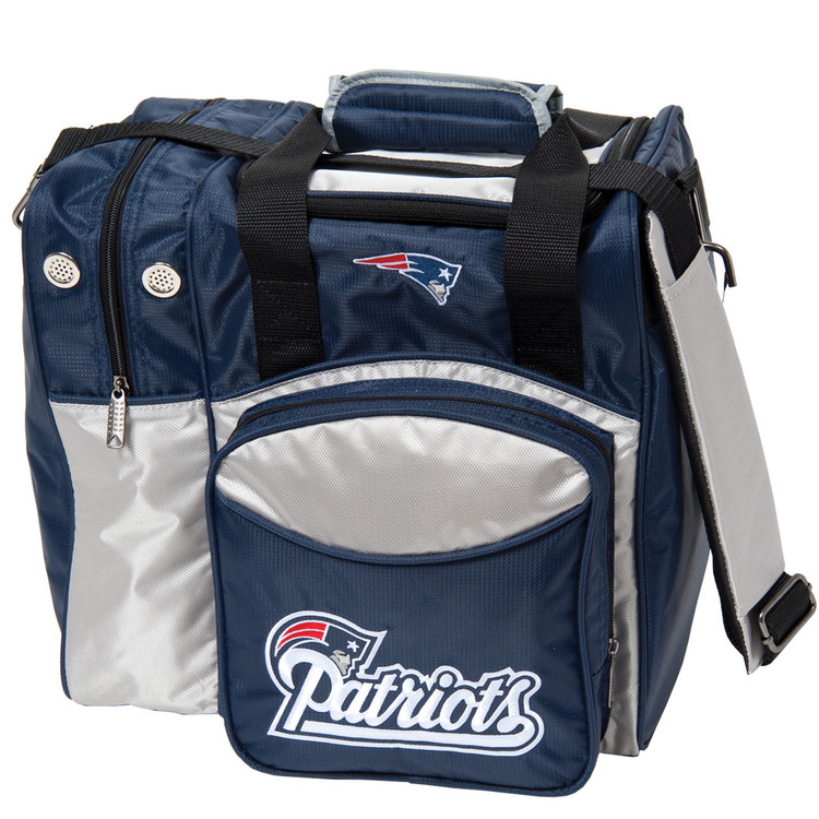 NFL 1 Ball Single Tote Bowling Bag New England Patriots