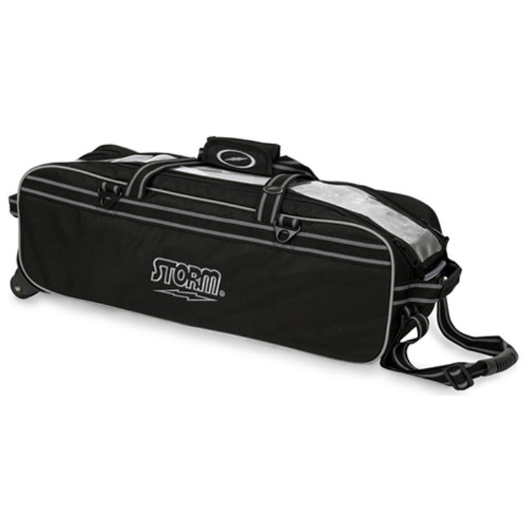 Storm Tournament 3 Ball Triple Roller Bowling Bag Black