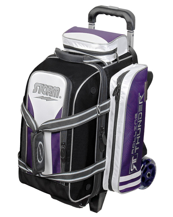 Storm Rolling Thunder 2-Ball Roller Bowling Bag Black Purple
