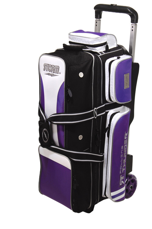 Storm Rolling Thunder 3-Ball Roller Bowling Bag Black Purple