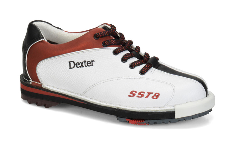 Dexter SST 8 LE Women's Bowling Shoes White Red Black Wide Width side view