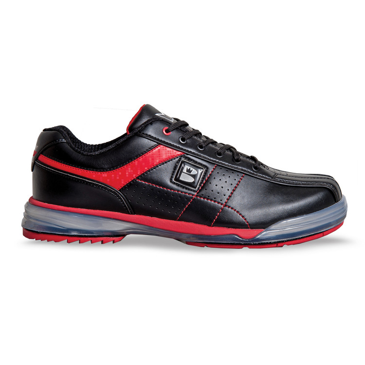 runswick TPU X Mens Bowling Shoes Black Red Right Hand Wide width  side view
