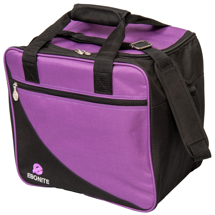 Ebonite Basic Single Tote Bowling Bag Purple