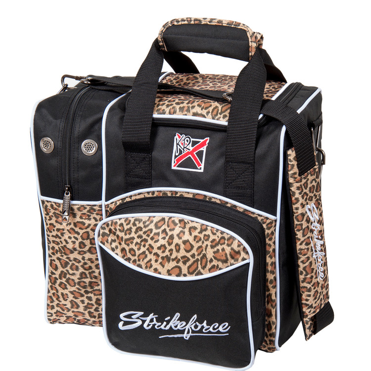 KR Flexx 1 Ball Single Tote Bowling Bag Leopard