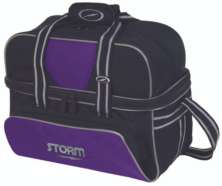 Storm Deluxe 2 Ball Tote Bowling Bag Purple