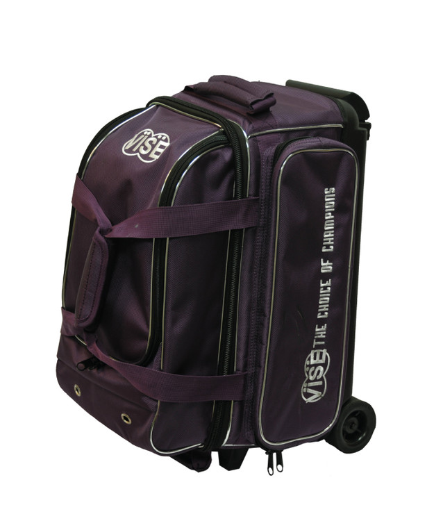 Vise 2 Ball Economy Roller Bowling Bag Purple
