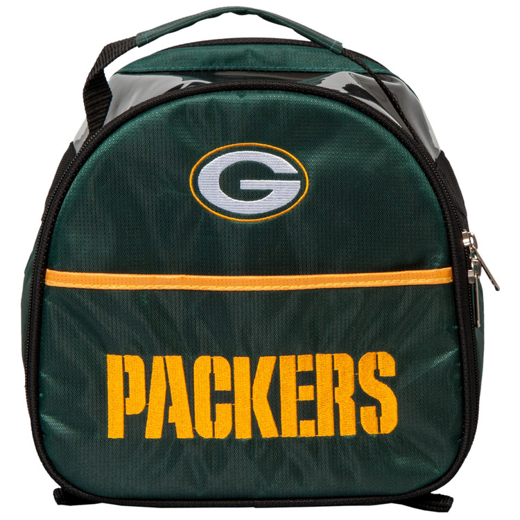 NFL Add On 1 Ball Single Tote Bowling Bag Green Bay Packers