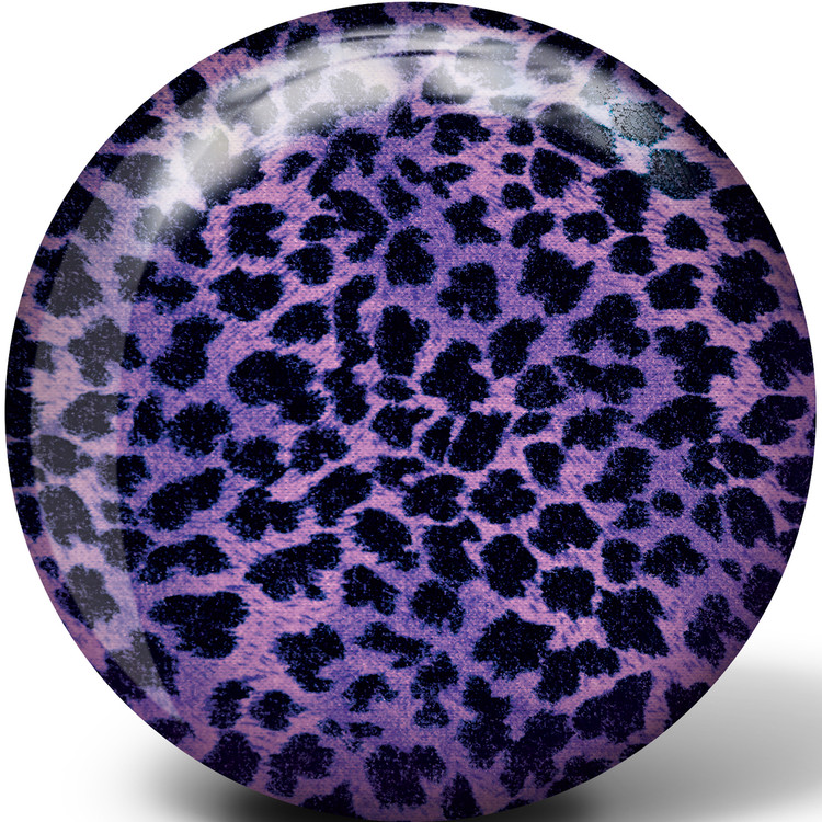 Brunswick Purple Cheetah Glow Viz a Ball Bowling Ball