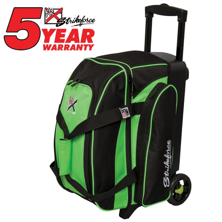 KR Kolors 2 Ball Double Roller Bowling Bag Lime