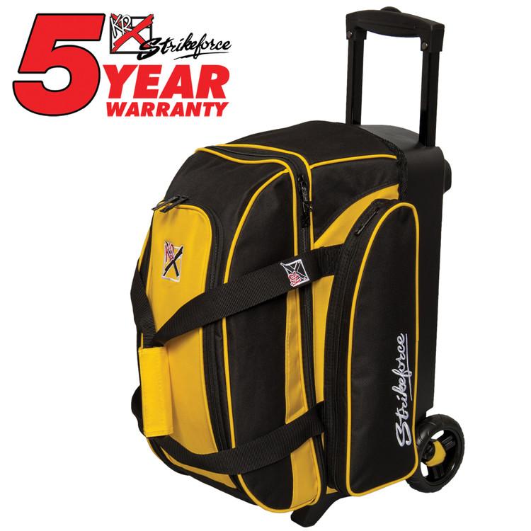 KR Kolors 2 Ball Double Roller Bowling Bag Yellow