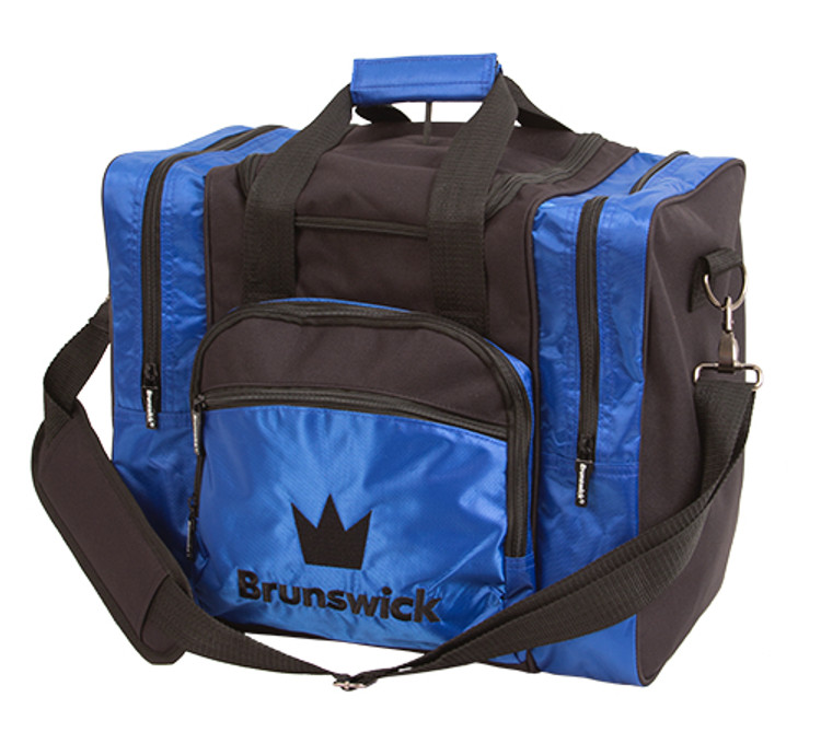 Brunswick Edge 1 Ball Single Tote Bowling Bag Blue