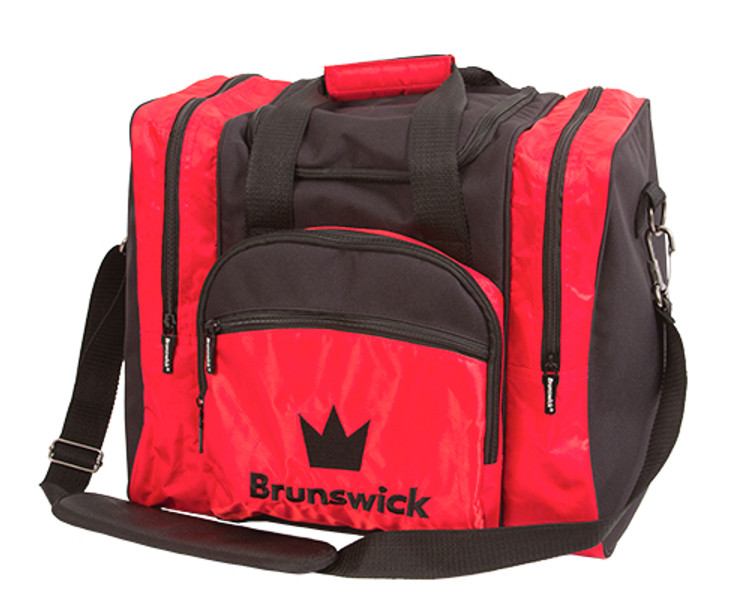 Brunswick Edge 1 Ball Single Tote Bowling Bag Red