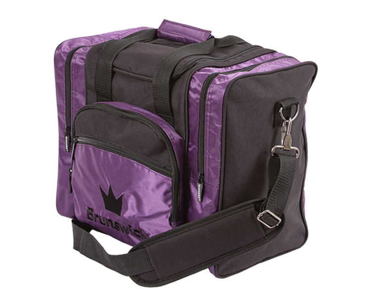 Brunswick Edge 1 Ball Single Tote Bowling Bag Purple
